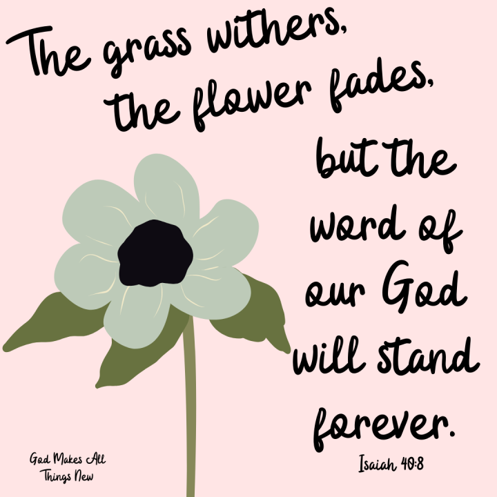 The Word of God will Stand Forever ❤